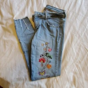 Zara Denim with embroidery